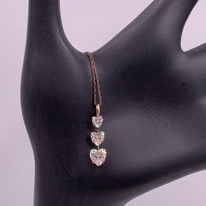 Copper and CZ Necklace